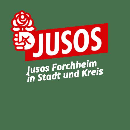 Logo der Jusos Forchheim - weiße Schrift