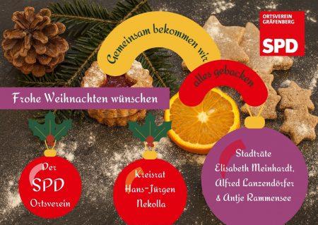 Frohe Weihnachten wünscht die SPD Gräfenberg