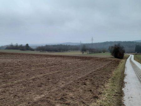Solarpark Lage Hohenschwärz Feldweg